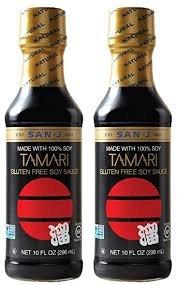 San-J Tamari Soy Sauce, Gluten Free, 10 Fl. Oz. Bottle (2 Pack)