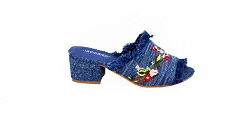 Embroidered Slip Sandal Women's Jacobies Denim on gFx5vqw6