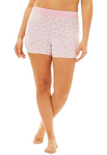 Comfort Choice Women's Plus Size 3-Pack Boyshorts - Soft Floral Pack, 9