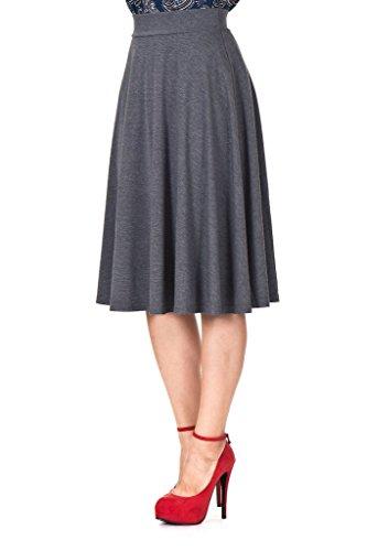 Dani's Choice Beautiful Flowing A-Line Flared Swing Midi Skirt (XL, (Beautiful Skirt)