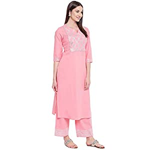 Khushal K Women Cotton Kurta with Palazzo Set