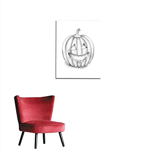 longbuyer Corridor/Indoor/Living Room Smiling Halloween Pumpkin Hand Drawing Illustration Mural 16