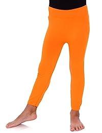 AshopZ Girls Stretchy Seamless Ankle Length Leggings Pants w/ Elastic Waist