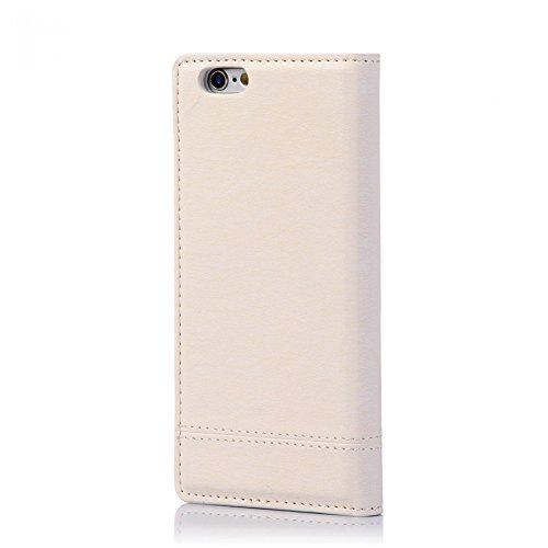 numia Handy Tasche Schutz Hülle Wallet Case Flip Cover Klapp Etui Schale Für Apple iPhone 6 6s Weiss
