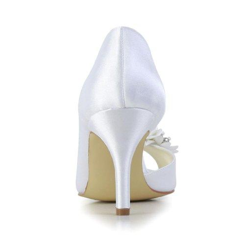 Jia Jia Wedding 83901AA Hochzeitsschuhe Brautschuhe Damen Pumps Weiß
