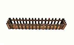 Natural Wooden Fence For Artificial Plants Flowers Box Home Garden Decoration