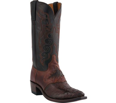 [Lucchese] since 1883メンズm2535.54サドルBoot 10.5 2E US Barrel Brown/Black Hornback Caiman Headcut B00EJF9FNU