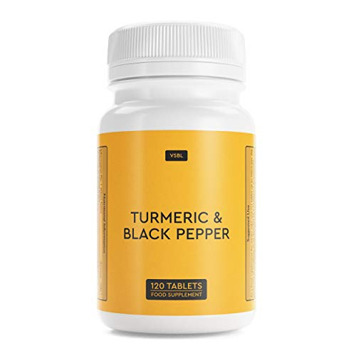 VSBL Turmeric with Black Pepper – 120 High Strength (2500mg) Turmeric Tablets – Premium Joint Care Supplements – Ideal…