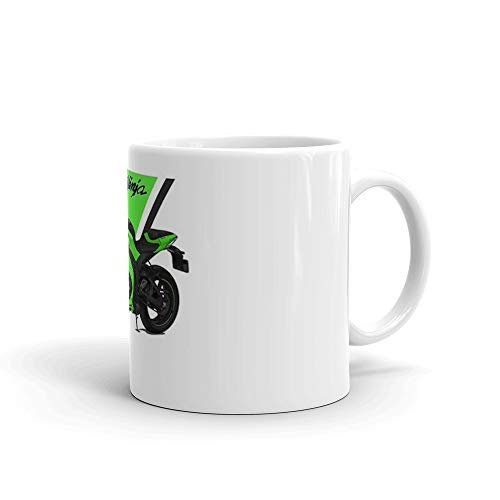 d5d6b4d1ae6 Amazon.com: Kawasaki Ninja ZX-10R 2011 Mug 11 Oz White Ceramic: Kitchen &  Dining