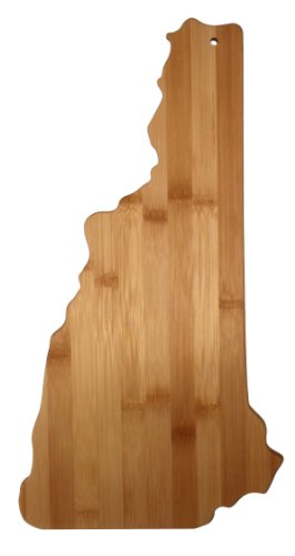 Totally Bamboo State Cutting & Serving Board, New Hampshire, 100% Bamboo Board for Cooking and Entertaining
