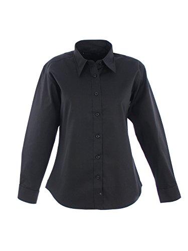 Femmes Manches Uniforme Longues UC703 Oxford 2XL Travail Travail De Noir Noir Pinpoint Vtements Chemise rZt0qwrvT