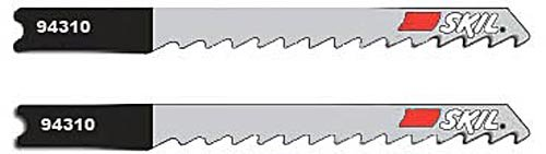 SKIL 94310C2 3-1/8-Inch 10 TPI High Carbon Steel U-Jigsaw Blade, 2-Pack