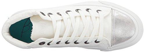 Blowfish Damen Madras Sneaker Weiße Farbe Washed Canvas / Silber