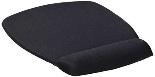 3M Foam Mouse Pad, Wrist Rest, Black, Antimicrobial - Pad Mouse Antimicrobial