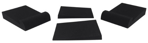 Pair Rockville RRS190S Foam Studio Monitor Isolation Pads 7.5'' x 9.5''/3 Angles by Rockville