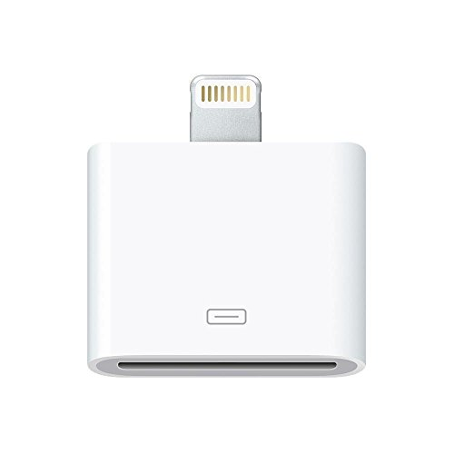 Premium 8 Pin to 30 Pin Adapter, Darrent Lightning 8-Pin Male to 30-Pin Female White Charging Adapter Converter for iPhone 7, 7 Plus, 6S, 6S Plug, 5S, 5C, iPad (White)