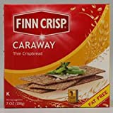 Finn Crisp Caraway Thin Rye Crispbread with Caraway, 7-Ounce Boxes (Pack of 9)