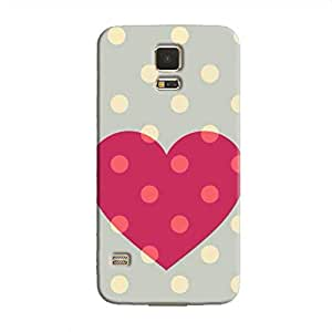 Cover It Up Love spotted Hard Case For Samsung Galaxy S5, Multi Color