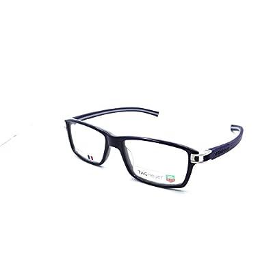 7836dd9c3b84 Tag Heuer Track S Rx Eyeglasses Frames Th 7601 003 55x17 Shiny Blue Grey