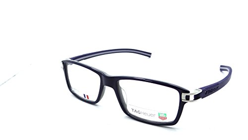 Tag Heuer Track S Rx Eyeglasses Frames Th 7601 003 55x17 Shiny Blue Grey