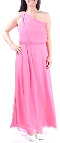 Adrianna Papell Coral Embellished Blouson Chiffon Dress Pink - Chiffon Blouson