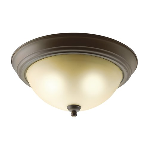 Kichler Light Ceiling Lighting (Kichler 8109OZ Flush Mount 2-Light, Olde Bronze)