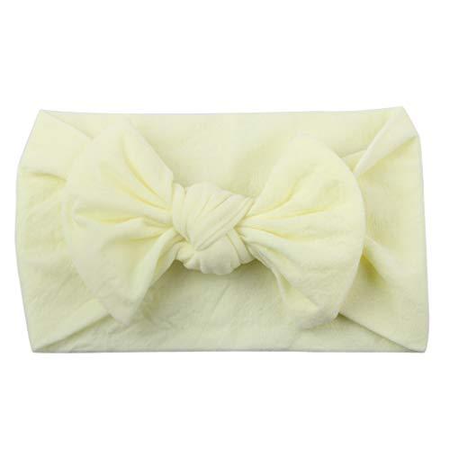 (MOGOV Hot Sale Girls Baby Toddler Cute Turban Solid Headband Hair Band Bow Accessories Headwear)