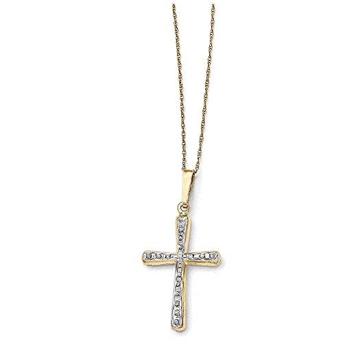 14k Diamond Fascination Cross - 14k Diamond Fascination 18in Cross Necklace