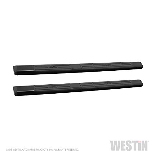 Ionic 5 Black Steel Oval Nerf Bars 2005-2008 Ford F150 SuperCrew Only Truck Side Steps Fits 412449B