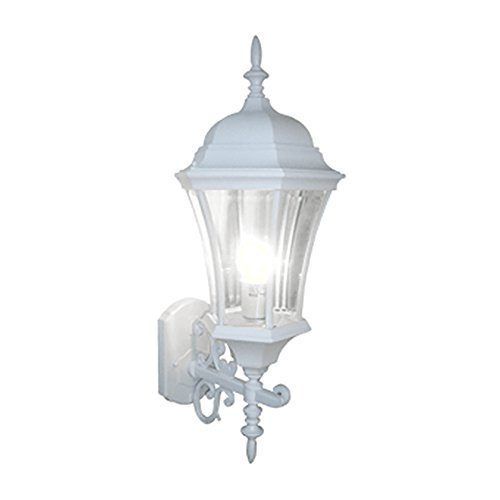 Exterior light fixtures in white amazon etoplighting modern collection oil rubbed white finish exterior outdoor lantern light with beveled glass wall apl1125 aloadofball Gallery