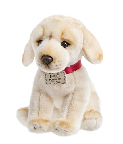 FAO Schwarz 1005982 Golden Labrador Puppy Dog Toy Plush, Ultra Soft & Snuggly Doll for Creative & Imagination Play, 10
