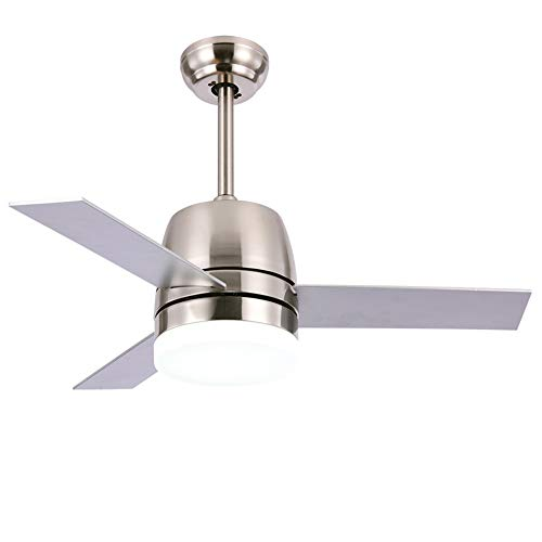 OCSEVE 36'' Ceiling Fan LED Light Kit Remote Control, Flush Mount Brushed Nickel 3 Blades Ceiling Fan with Light for Indoor Bedroom by OCSEVE (Image #8)