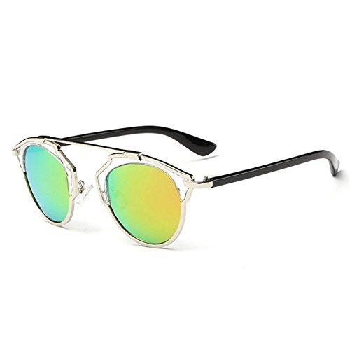 My.Monkey Womens Summer Party Retro Classic Style Reflective Mirror Lens Wayfarer - Sunglasses Sunglasses Dvb Style Aviator