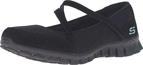 Skechers Women's EZ Flex 2 Mary Jane Sneaker,Black,US 8.5 M