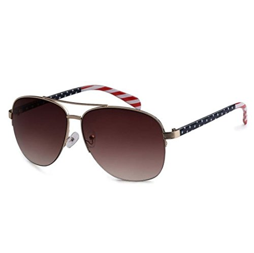 USA American Flag Classic Aviator Patriot Large Sunglasses (Gold, - Hottest Sunglasses Designer 2017