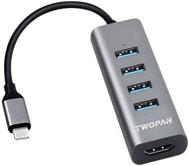 TWOPAN Aluminum Multiport Compatible Chromebook Travellers product image