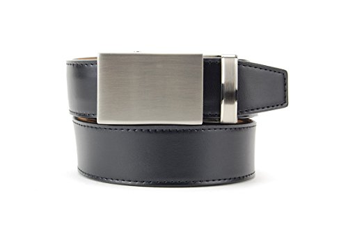Essential Shield Black Dress Belt by Nextbelt - The Belt with no Holes (The Black Shield)
