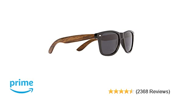 18c19cdd750 Amazon.com  WOODIES Walnut Wood Sunglasses with Black Polarized Lenses for  Men or Women  Clothing