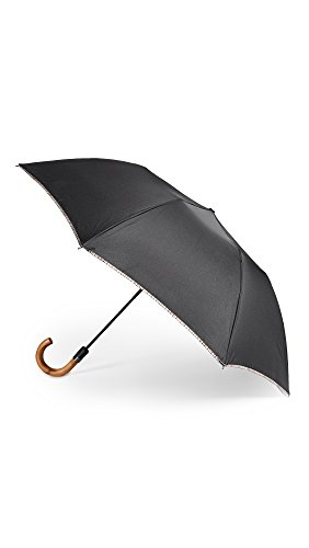 Paul Smith Men's Multistripe Trim Crook Umbrella, Black Multi, One Size by Paul Smith
