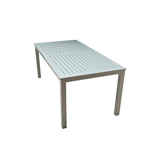 Courtyard Casual 5083 Skyline Aluminum Outdoor Rectangle Dining Table, Silver