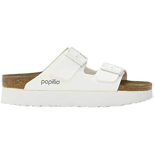 Papillio Womens Arizona Platform Birko-Flor White Sandals 9 US
