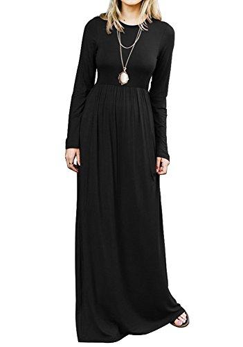 long black maxi dress cotton - 5