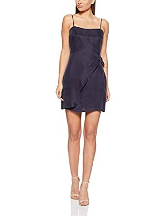 THIRD FORM Women's Here Before Mini Dress, Navy Stripe, Extra Small