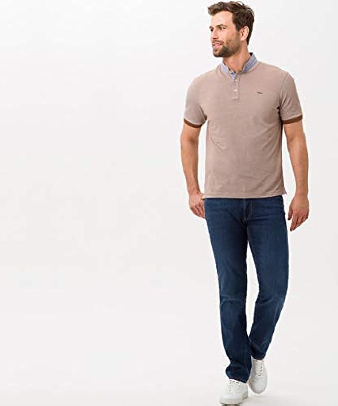 BRAX Męskie Style Cadiz Ultralight Blue Planet: trwałe dżinsy Five-Pocket: Odzież