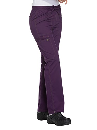 Dickies Essence by Women's Straight Leg Drawstring Scrub Pant Medium Eggplant