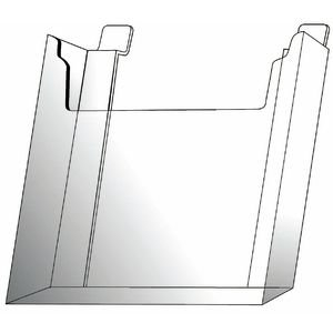 Slatwall Leaflet Literature Holders Clear 8 1/2 x ()