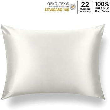 Amazon Com J Jimoo Natural Silk Pillowcase For Hair And