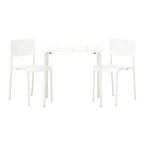 Ikea VÄDDÖ Table+2 chairs, outdoor, white 2202.142614.614