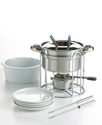 Martha Stewart 14 Piece Stainless Steel Fondue Set (Steel Set Fondue)
