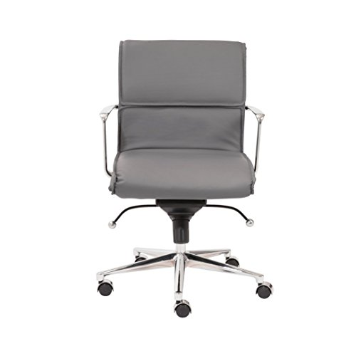 Euro Style Leif Low Back Office Chair, Gray ()